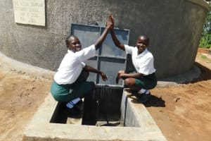 The Water Project: Sawawa Secondary School -  Anabel And Christine Celebrating Water