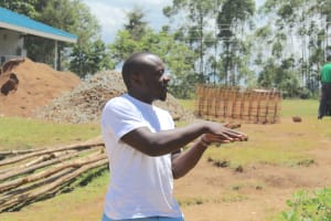 The Water Project: Bugute Lutheran Primary School -  Trainer Allan Leads Handwashing