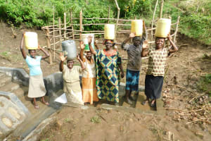 The Water Project: Rosterman Community, Lishenga Spring -  Thank You
