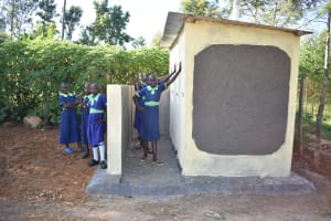 The Water Project: Khwihondwe SA Primary School -  Girls Stand With New Vip Latrines