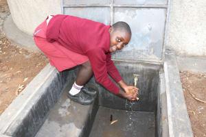 The Water Project: Friends School Ikoli Secondary -  Flowing Water