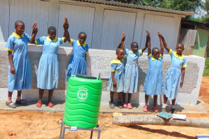 The Water Project: Hobunaka Primary School -  Girls Celebrate New Latrines