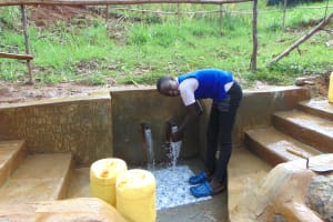 The Water Project: Musiachi Community, Mutuli Spring -  Enjoying The Spring Water