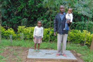 The Water Project: Mubinga Community, Mulutondo Spring -  New Sanitation Slab Owners