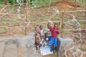 The Water Project: Maondo Community, Ambundo Spring -  Mega Splash