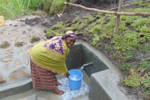The Water Project: Bukhaywa Community, Shidero Spring -  Easy Fetching Water Now