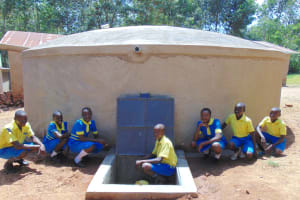 The Water Project:  Pupils Posing At The Tank
