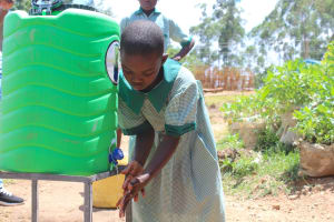 The Water Project: Bugute Lutheran Primary School -  Handwashing