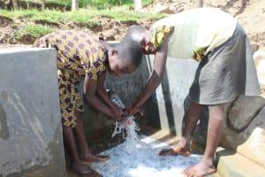 The Water Project: Kalenda B Community, Lumbasi Spring -  Smiles At The Spring