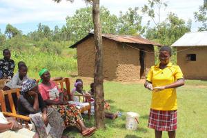 The Water Project: Tumaini Community, Ndombi Spring -  Handwashing Volunteer
