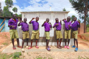 The Water Project: Chiliva Primary School -  Boys Pose With Latrines