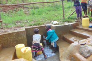 The Water Project: Musiachi Community, Mutuli Spring -  Kids Having Fun At The Spring