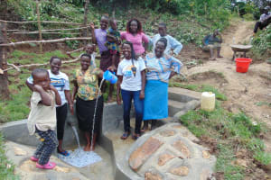 The Water Project: Mukangu Community, Metah Spring -  Happy Day