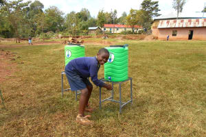 The Water Project: Hobunaka Primary School -  Handwashing
