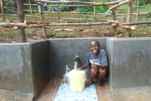 The Water Project: Kitulu Community, Kiduve Spring -  A Moment Of Laughter