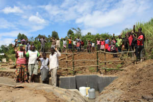 The Water Project: Tumaini Community, Ndombi Spring -  Training Complete