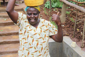 The Water Project: Namarambi Community, Iddi Spring -  Thumbs Up For Clean Water