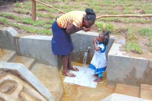 The Water Project: Mubinga Community, Mulutondo Spring -  Like Mother Like Daughter