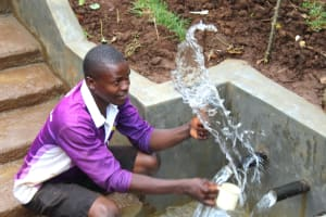 The Water Project: Namarambi Community, Iddi Spring -  Splash