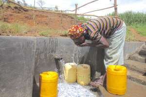 The Water Project: Kalenda A Community, Webo Simali Spring -  Drinking Straight From The Source