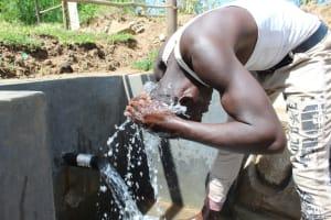 The Water Project: Kalenda B Community, Lumbasi Spring -  Cooling Off