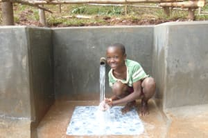 The Water Project: Kitulu Community, Kiduve Spring -  Happy Day
