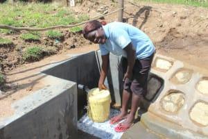 The Water Project: Kalenda B Community, Lumbasi Spring -  Happy Day