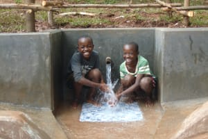 The Water Project: Kitulu Community, Kiduve Spring -  Say Cheese