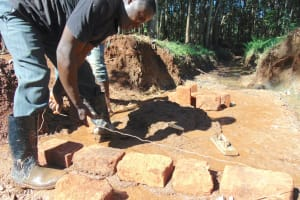 The Water Project: Kitulu Community, Kiduve Spring -  Bricklaying