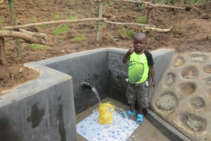 The Water Project: Tumaini Community, Ndombi Spring -  Thumbs Up For Clean Water