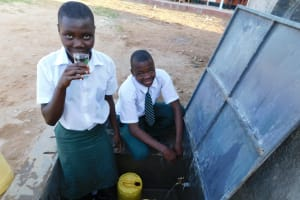 The Water Project: Sawawa Secondary School -  Enjoying Clean Safe Water