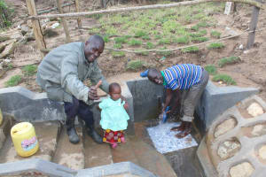 The Water Project: Kalenda B Community, Lumbasi Spring -  Clean Water Helps All Generations