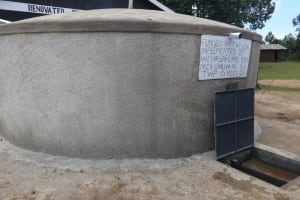The Water Project: Chiliva Primary School -  Completed Rain Tank