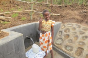The Water Project: Tumaini Community, Ndombi Spring -  Yay Flowing Water