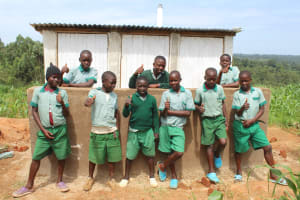 The Water Project: Bugute Lutheran Primary School -  Boys With New Latrines