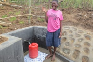 The Water Project: Tumaini Community, Ndombi Spring -  A Moment Of Laughter
