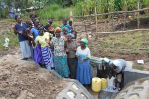 The Water Project: Kalenda B Community, Lumbasi Spring -  Women Celebrate The Spring