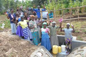The Water Project: Kalenda B Community, Lumbasi Spring -  Community Celebrates The Spring