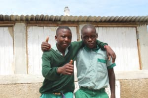 The Water Project: Bugute Lutheran Primary School -  Thumbs Up For New Latrines