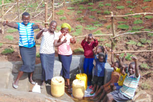 The Water Project: Maondo Community, Ambundo Spring -  Celebrating The Spring