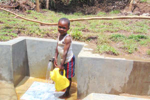 The Water Project: Mubinga Community, Mulutondo Spring -  Ready To Bring Clean Water Home