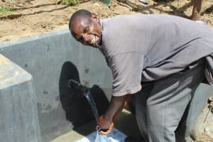 The Water Project: Tumaini Community, Ndombi Spring -  Happy Day