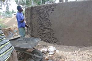The Water Project: Friends School Ikoli Secondary -  Cementing Tank Walls