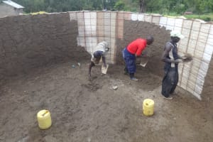 The Water Project: Bugute Lutheran Primary School -  Interior Cement Work