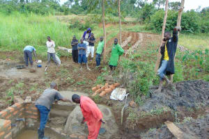 The Water Project: Musiachi Community, Mutuli Spring -  Stair And Wall Construction