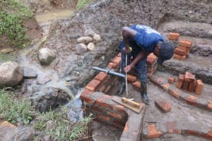 The Water Project: Rosterman Community, Lishenga Spring -  Pipe Measurements
