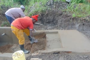 The Water Project: Bukhaywa Community, Shidero Spring -  Stair Construction