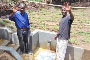 The Water Project: Mubinga Community, Mulutondo Spring -  Men Celebrate The Spring