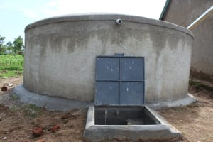 The Water Project: Bugute Lutheran Primary School -  Completed Rain Tank