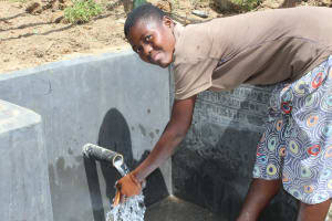 The Water Project: Tumaini Community, Ndombi Spring -  Handwashing At The Spring